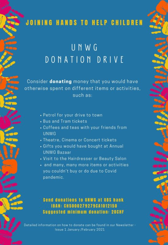 Donation drive poster